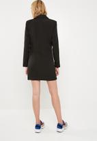 Missguided - Contrast side stripe blazer dress - black