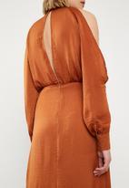 Missguided - Split front dress - orange