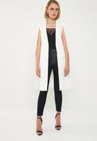 Missguided - Core longline cape blazer - white