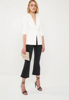Missguided - Core skinny tux - white