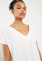 Superbalist - V-neck blouse - white