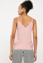 Superbalist - Cami with lace insets - pink