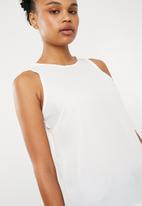 Superbalist - Woven scoop neck vest - white