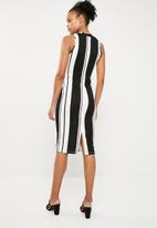 Superbalist - Bodycon dress - black & white