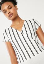 Superbalist - Knit combo bodysuit - black & white