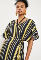 Superbalist - Kimono sleeve wrap cover up - multi