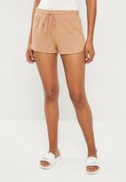 Cotton On - Super soft lounge short - brown