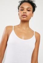 Superbalist - Cami 2 pack bodysuit - white & black