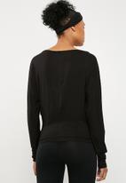 Superbalist - Long sleeve 2 pack tee - black & peach