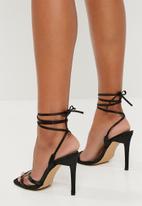 Public Desire - Contour lace up heel - black