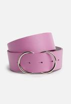 Superbalist - Lucia double buckle leather belt - pink