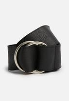 Superbalist - Gina double buckle leather soft - black