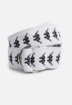 KAPPA - Banda belt - white
