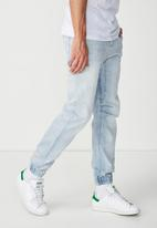 Cotton On - Slim denim jogger - blue