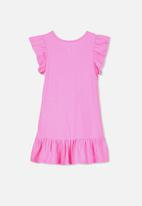 Cotton On - Ella short sleeve dress - pink