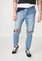 Cotton On - Slim denim jogger - blue