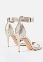 Cotton On - Spritz stiletto heel - gold