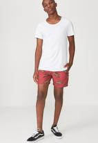 Cotton On - Basic swim shorts - red