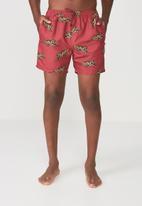 Cotton On - Basic swim shorts - red