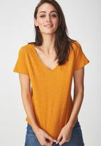 Cotton On - The deep V-neck - tan