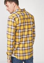 Cotton On - 91 long sleeve shirt - yellow & grey