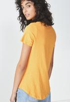 Cotton On - The deep V-neck - orange