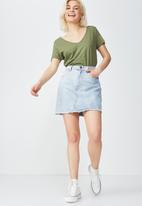 Cotton On - The deep V-neck - khaki