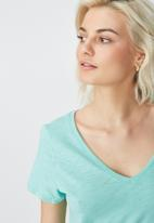 Cotton On - The deep V-neck - green