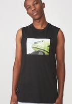 Cotton On - Tbar muscle tee - black