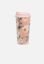 Typo - Printed travel mug - pink