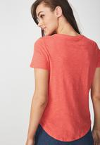 Cotton On - The crew T-shirt - pink