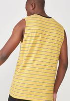 Cotton On - Tbar muscle tee - yellow