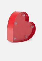 Typo - Shaped mini marquee light - red heart