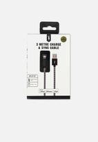 Typo - 3m charge and sync MFI cable - black