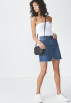 Cotton On - The re-made summer mini denim skirt - blue