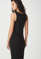 Cotton On - Lena midi dress - black