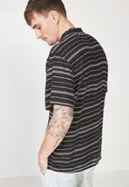 Cotton On - 91 short sleeve shirt - black