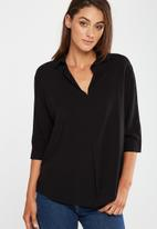 Cotton On - Bex popover shirt - black