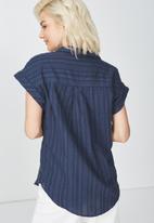Cotton On - Emily short sleeve shirt - navy