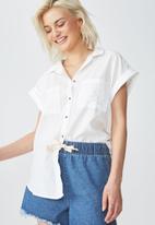 Cotton On - Emily short sleeve shirt - white