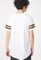 Cotton On - Longline scoop hem tee - white