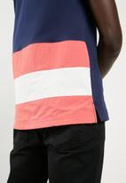 Asics Tiger - Colour block short sleeve border tee - multi