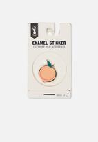 Typo - Enamel stickers - peach