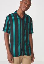 Cotton On - Festival shirt - black & blue