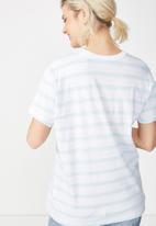 Cotton On - Tbar fox graphic - white & blue