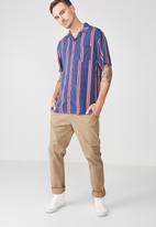 Cotton On - Festival shirt - navy & red
