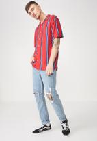 Cotton On - Festival shirt - red & blue