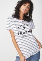 Cotton On - Tbar fox graphic T-shirt - white & black