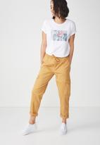Cotton On - Tbar fox graphic T shirt - white