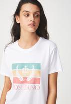 Cotton On - Tbar fox graphic T-shirt Positano - white